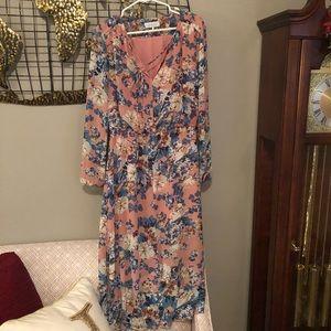Pretty floral midi dress
